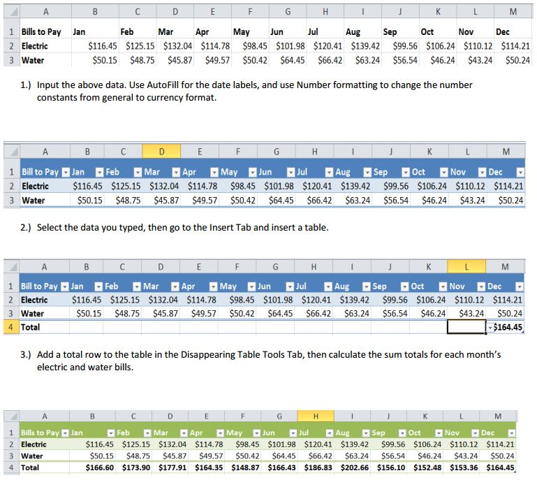 Excel – Excel Practice Worksheets