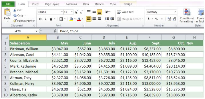 excel 2013 exercises